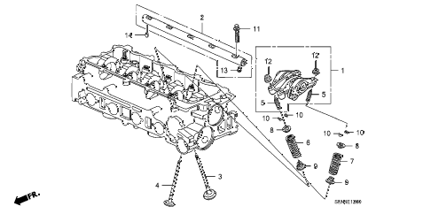 2007 fit SPORT 5 DOOR 5MT VALVE - ROCKER ARM diagram