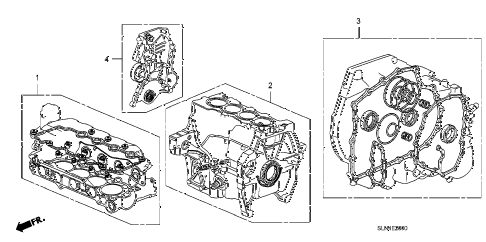 2007 fit SPORT 5 DOOR 5MT GASKET KIT diagram