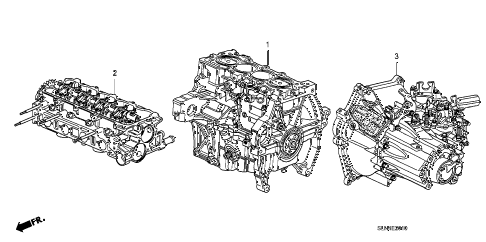 2008 fit BASE 5 DOOR 5MT ENGINE ASSY. - TRANSMISSION ASSY. diagram