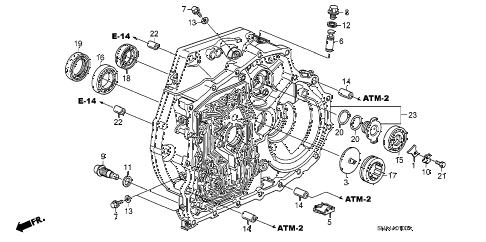 2008 civic EX(TRANS-#MPCA-2* 4 DOOR 5AT TORQUE CONVERTER CASE diagram