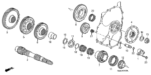 2008 civic EX 4 DOOR 5AT COUNTERSHAFT diagram