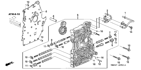 2008 civic DX(AC) 4 DOOR 5AT MAIN VALVE BODY diagram
