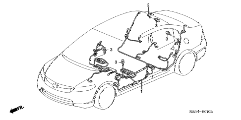 2006 civic EX(NAV) 4 DOOR 5AT WIRE HARNESS (3) diagram
