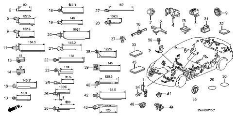 2007 civic EX(NAV) 4 DOOR 5AT HARNESS BAND - BRACKET diagram
