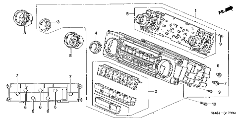 2007 civic EX 4 DOOR 5AT HEATER CONTROL diagram