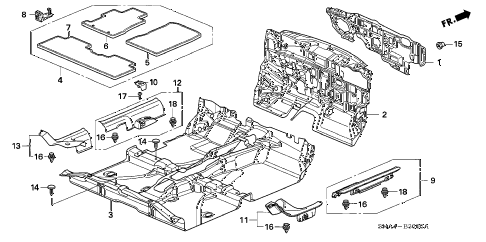 2008 civic EX(TRANS-#MPCA-2* 4 DOOR 5AT FLOOR MAT diagram