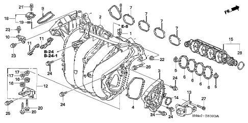 2007 civic DX 4 DOOR 5AT INTAKE MANIFOLD (1.8L) diagram