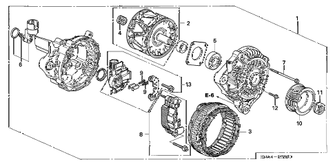 2007 civic EX(NAV) 4 DOOR 5AT ALTERNATOR (MITSUBISHI) (1.8L) diagram