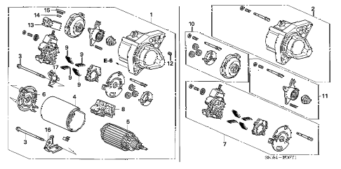 2008 civic EX 4 DOOR 5AT STARTER MOTOR (MITSUBA) (1.8L) diagram