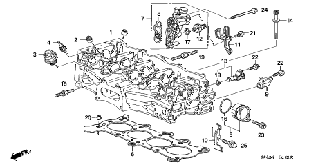 2008 civic EX 4 DOOR 5AT SPOOL VALVE (1.8L) diagram