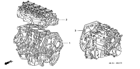 2008 civic DX(AC) 4 DOOR 5AT ENGINE ASSY. - TRANSMISSION ASSY. (1.8L) diagram