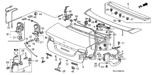 2010 civic DX(VP) 4 DOOR 5MT TRUNK LID diagram