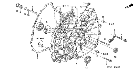 2010 civic MX(HYBRID NAVI) 4 DOOR CVT FLYWHEEL CASE diagram