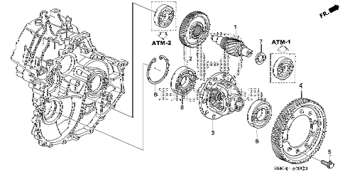 2010 civic MX(HYBRID NAVI) 4 DOOR CVT DIFFERENTIAL diagram