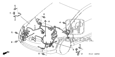 2009 civic MX(HYBRID LEA NAV 4 DOOR CVT WIRE HARNESS (1) diagram