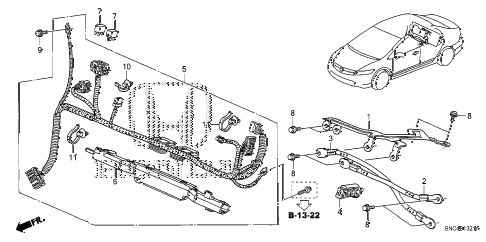 2010 civic MX(HYBRID) 4 DOOR CVT IMA WIRE HARNESS diagram