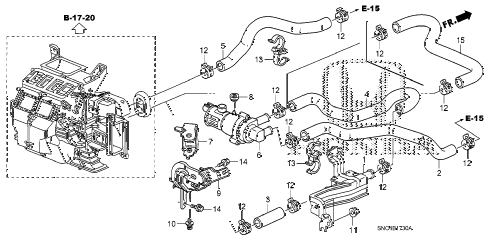 2011 civic MX(HYBRID NAVI) 4 DOOR CVT WATER VALVE diagram