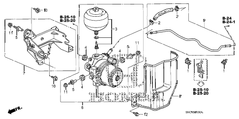 2010 civic MX(HYBRID) 4 DOOR CVT BRAKE POWER UNIT diagram
