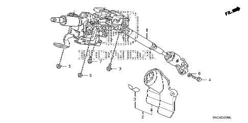 2009 civic MX(HYBRID NAVI) 4 DOOR CVT STEERING COLUMN diagram