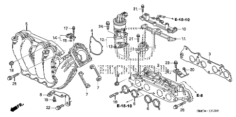 2011 civic MX(HYBRID LEATHER 4 DOOR CVT INTAKE MANIFOLD diagram