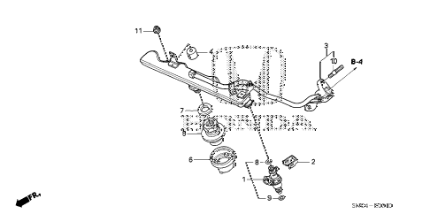 2011 civic MX(HYBRID NAVI) 4 DOOR CVT FUEL INJECTOR diagram