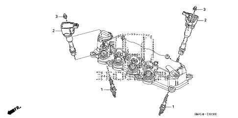 2011 civic MX(HYBRID LEATHER 4 DOOR CVT PLUG TOP COIL - SPARK PLUG diagram