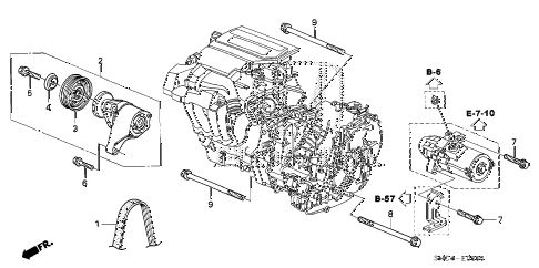 2011 civic MX(HYBRID) 4 DOOR CVT TENSIONER diagram