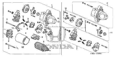 2010 civic MX(HYBRID) 4 DOOR CVT STARTER MOTOR (MITSUBA) diagram