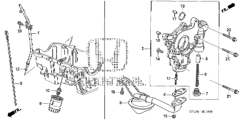 2010 civic MX(HYBRID LEATHER 4 DOOR CVT OIL PUMP diagram