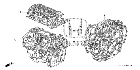 2010 civic MX(HYBRID LEATHER 4 DOOR CVT ENGINE ASSY. - TRANSMISSION ASSY. diagram