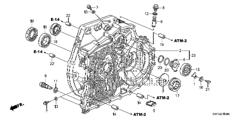 2009 civic GX 4 DOOR 5AT TORQUE CONVERTER CASE diagram