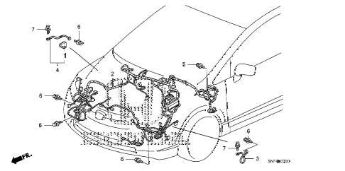2011 civic GX 4 DOOR 5AT WIRE HARNESS (1) diagram