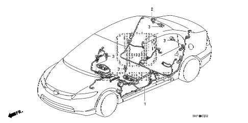 2009 civic GX 4 DOOR 5AT WIRE HARNESS (3) diagram
