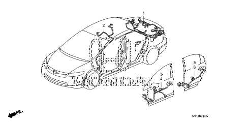 2008 civic GX 4 DOOR 5AT WIRE HARNESS (4) diagram