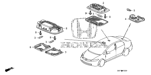 2008 civic GX 4 DOOR 5AT INTERIOR LIGHT diagram