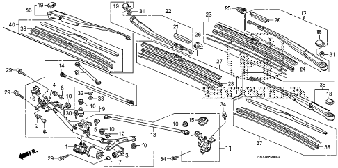 2011 civic GX 4 DOOR 5AT FRONT WINDSHIELD WIPER diagram