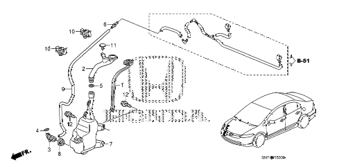2011 civic GX 4 DOOR 5AT WINDSHIELD WASHER diagram