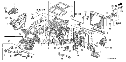 2011 civic GX 4 DOOR 5AT HEATER UNIT diagram