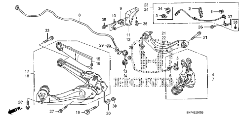 2009 civic GX 4 DOOR 5AT REAR LOWER ARM diagram