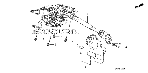 2011 civic GX 4 DOOR 5AT STEERING COLUMN diagram