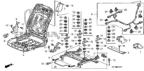 2008 civic GX 4 DOOR 5AT FRONT SEAT COMPONENTS (R.) diagram