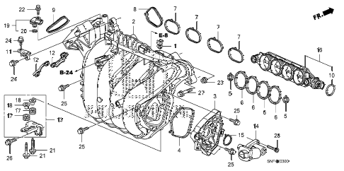 2008 civic GX 4 DOOR 5AT INTAKE MANIFOLD diagram