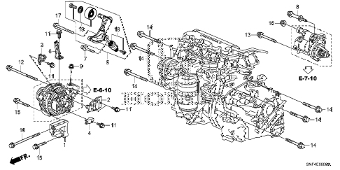 2011 civic GX 4 DOOR 5AT ALTERNATOR BRACKET diagram