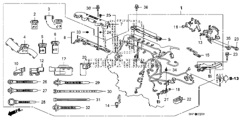 2009 civic GX 4 DOOR 5AT ENGINE WIRE HARNESS diagram