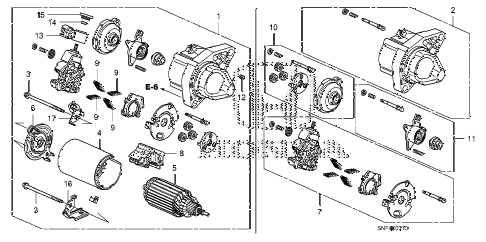 2011 civic GX 4 DOOR 5AT STARTER MOTOR (MITSUBA) diagram
