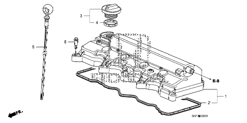 2009 civic GX 4 DOOR 5AT CYLINDER HEAD COVER diagram