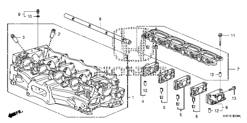 2008 civic GX 4 DOOR 5AT CYLINDER HEAD diagram