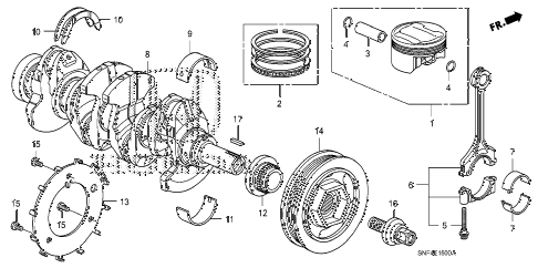 2011 civic GX 4 DOOR 5AT CRANKSHAFT - PISTON diagram