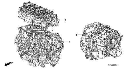 2011 civic GX 4 DOOR 5AT ENGINE ASSY. - TRANSMISSION ASSY. diagram