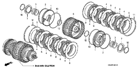2009 civic EX-L 2 DOOR 5AT CLUTCH (2ND-4TH) diagram